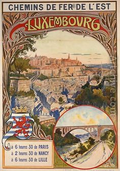 Luxembourg _________________________ #Vintage #Travel #Poster