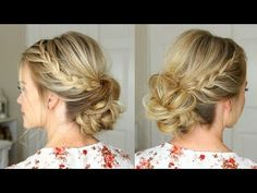 Lace Braid Homecoming Updo | Missy Sue - YouTube
