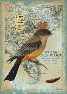 Collage art original digital download supplies print by magymai711