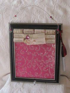 Dry Erase Bulletin Board made of Wine Corks