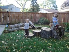 Logs to climb and balance on & jump from