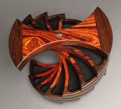 Spiral wood jewelry box...