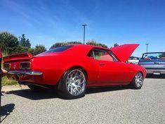 68 camaro red. concave wheels