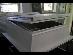 F100 glass #rooflight opening via 230v motor for natural ventilation: http://www.dvsltd.co.uk/dvs-products-f100-glass-rooflight.htm