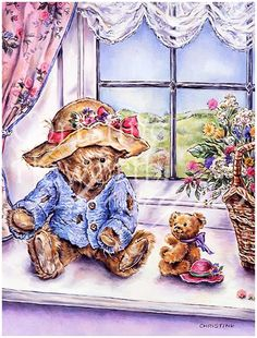 Meadow Cottage Bears : Afternoon Companions © Copyright Christine Haworth Designs