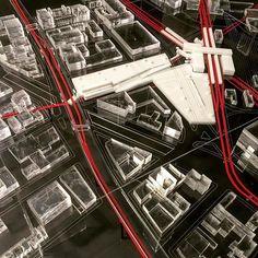 @takkytani 's #plexiglass model #transportationhub project for Broadway Junction! #architecturestudent #finals #architecture