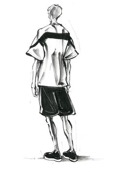 New York Men's Spring 2016 Inspirations Man Illustration, Fashion Illustration Men, Fashion Illustrations, Fashion Week, Fashion Art, Fashion Design, Notebook Sketches, Profile Drawing, Chinese Opera
