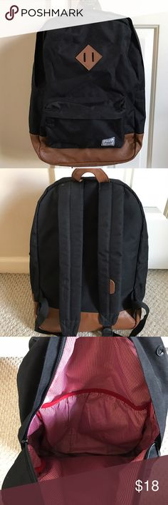 """Herschel Supply Heritage Backpack Black Herschel Supply Company """"Heritage"""" backpack. It has an exterior pocket and an interior laptop pocket. The condition is as shown in the pictures. Herschel Supply Company Bags Backpacks"""