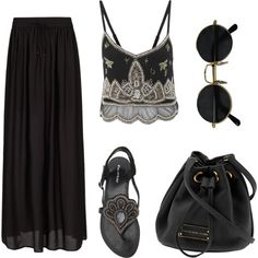 A fashion look from May 2013 featuring Miss Selfridge tops, MANGO skirts and Miss Selfridge sandals. Browse and shop related looks.