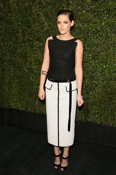Kristen Stuart in Chanel at a pre-Oscar dinner
