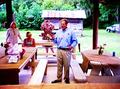 US Senatorial Candidate, Jack Kingston, stumping rural South Georgia - 'The Bob Place' Fleming, Ga. Home of J.F. Gill III and family.