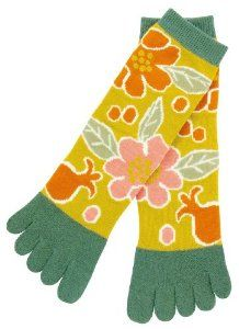 Pomegranate Japanese Kimono Print Women's 5 Inch Cuff 5 Toes Socks by Kurochiku. $11.99. Cotton, Polyester, Polyurethane. Women US 6-9. Import from Japan. Machine Washable. 5 Toes Women's Socks. Introducing our popular Kurochiku 5 toes socks. With over 40 different Japanese kimono print designs, find the one that best represents you! Great for yoga and other athletic activities.