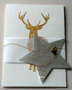 Weihnachten - Weihnachten no.5 - ein Designerstück von sillyspaperdesign bei DaWanda Christmas Deer, Christmas Greeting Cards, Christmas Greetings, Greeting Cards Handmade, Paper Cards, Diy Cards, Karten Diy, Star Cards, Christmas Drawing