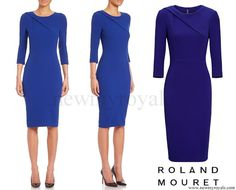 Princess+Charlene+wore+Roland+Mouret+Hisley+Three-quarter+Sleeve+Sheath+Dress.jpg (600×485)