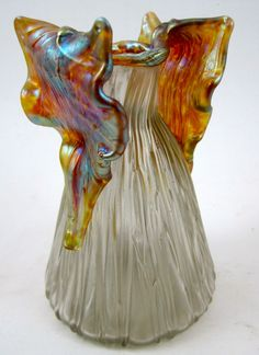 Loetz |  Gloria Art Nouveau Glass Vase Iridescent glass Austria, ca. 1906.