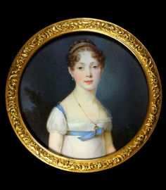 François-Antoine Romany, Portrait of a young lady with pearl diadem