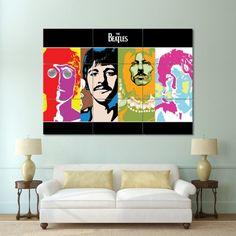 The Beatles Pop Art Block Giant Wall Art Poster (P-0155)