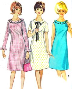 1960s Dress Pattern Simplicity 5910 A Line Day or by paneenjerez, $12.00