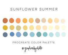 Color Schemes Colour Palettes, Create Color Palette, Colour Pallete, Summer Color Palettes, Color Combinations, Colors For Skin Tone, Jewel Tone Colors, Best Hacks, Sunflower Colors