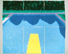 Pool with Reflection and Still Water, 1978  colored and pressed paper pulp 72x85 1/2 in.
