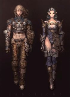 ArtStation - Male and female, Sang Sub Kim