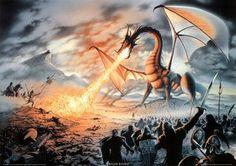 Fire-Breathing Dragon Battle (Fantasy) Art Print Poster Poster Poster Print, 36x25 by Generic, http://www.amazon.com/dp/B000G6ON6U/ref=cm_sw_r_pi_dp_IG6-pb1NGHN5J