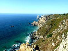 #bay #beach #cliff #cliff coast #coast #daytime #horizon #island #landscape #moss #mountain #nature #ocean #rocks #rockyscape #scenic #sea #seascape #seashore #sky #water