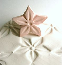 Clay Stamp Large Star Flower Jasmine Shape Pattern Texture Shape Tool for Clay Ceramics Pottery Fondant Cookies