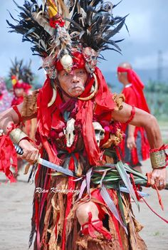 Sarian Kabasaran is one of the leaders of the Kabasaran dance from Minahasa, North Sulawesi.