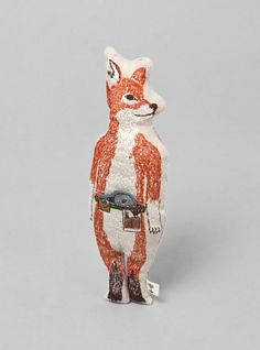 SO CUTE. Embroidered Fox Pocket Doll by Coral And Tusk from Couverture and The Garbstore