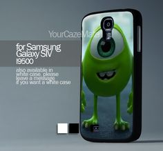 Mike Wazowski Monster For Samsung Galaxy S4 Hard Plastic Black Case | YourCazeMate - Accessories on ArtFire