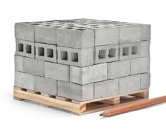 6881e02e6c 1 12 Scale Miniature Cinder Blocks - 72PK with Pallet Wooden Shipping  Crates