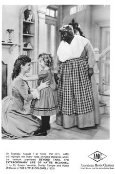 """Shirley Temple with Evelyn Venable, left, and Hattie McDaniel in """"The Little Colonel"""" 1935"""