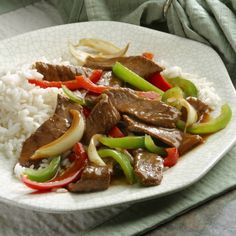 Under $2.25 per serving. Transport your taste buds to the Orient with this quick-cooking steak and bell peppers in a flavorful ginger sauce.