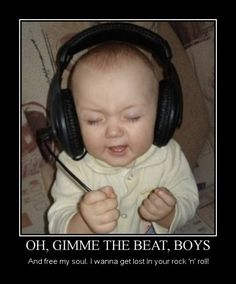 Oh Give Me The Beat Motivational Poster