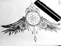 This would make a KILLER sternum piece!