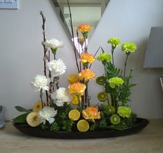 circular parallel flower arrangements - Google Search