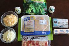 Broccoli Bacon Chicken Ingredients