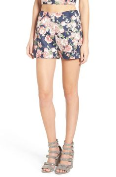 Leith Floral Print High Waist Shorts available at #Nordstrom