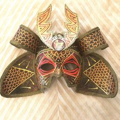 Samurai warrior mask, samurai costume mask, venetian mask, handmade, japanese mask, asian mask, samurai helmet, warrior mask, samurai costum by EthnicDrops on Etsy https://www.etsy.com/listing/487336079/samurai-warrior-mask-samurai-costume