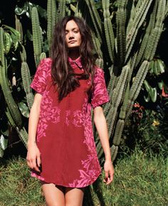 Red Collared Shirt Dress