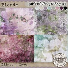 Lilacs & Lace Blended papers