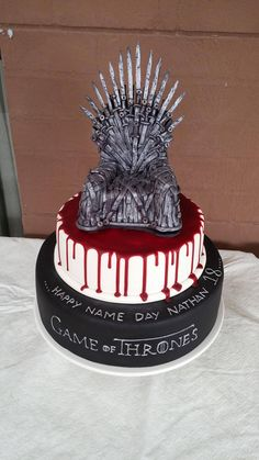 Best 20 Game Of Thrones Birthday Cake .Commemorate a winter season birthday with this warm spiced cake, loaded with nutmeg, cinnamon, and clove. A birthday party simply isn't finish up … Cupcakes, Cupcake Cakes, Game Of Thrones Torte, Game Thrones, Game Of Thrones Birthday Cake, Game Of Thrones Tattoo, Halloween Torte, Got Party, Cake Games