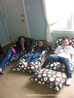 DIY Kids Pillow Bed