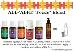 Young Living Essential Oils ADD/ADHD Focus Blend Recipe Roller Bottle Roll-on www.youngliving.org/ambermoore