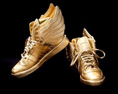Gold Custom Adidas Wings for Justin Bieber