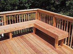 Patio step ideas, built in deck seating ideas deck bench . Deck Bench Seating, Patio Bench, Built In Seating, Built In Bench, Back Patio, Outdoor Seating, Floor Seating, Seating Areas, Back Deck