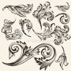 Stock Images similar to ID 96050783 - raster version decorative., Stock Images similar to ID 96050783 - raster version decorative. Stock Images similar to ID 96050783 - raster version decorative. Baroque Tattoo, Filigree Tattoo, Tattoo Drawings, Body Art Tattoos, Art Drawings, Baroque Frame, Molduras Vintage, Tattoo Filler, Tattoo Ideas
