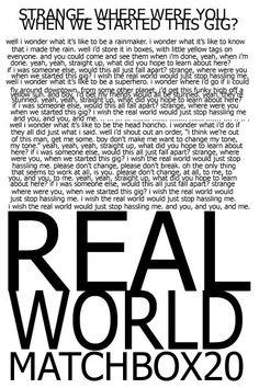 real world - matchbox 20
