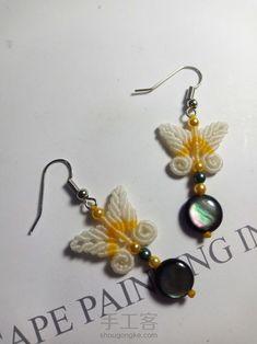 Macrame Earrings Tutorial, Macrame Tutorial, Earring Tutorial, Macrame Necklace, Macrame Jewelry, Bracelet Tutorial, Boho Jewelry, Jewelry Crafts, Fine Jewelry